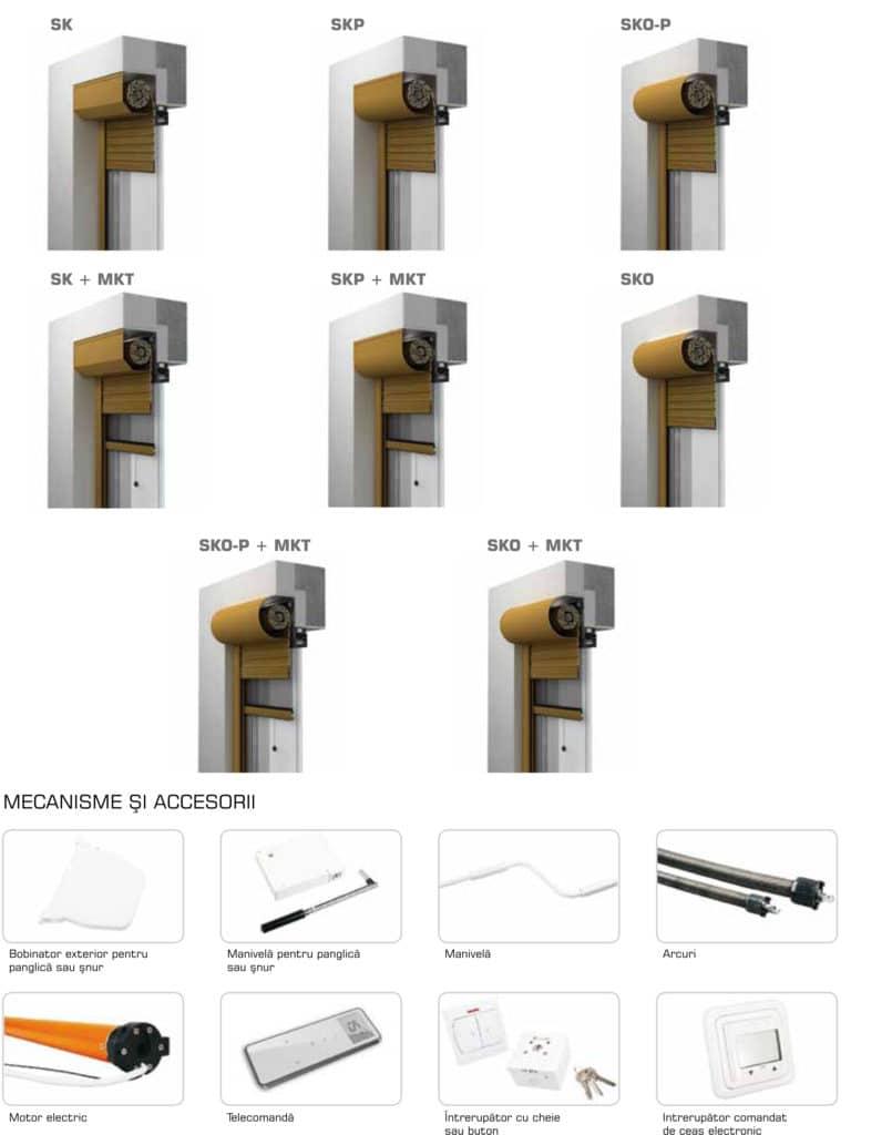Accesorii rulouri si genuri de rulouri exterioare aplicate
